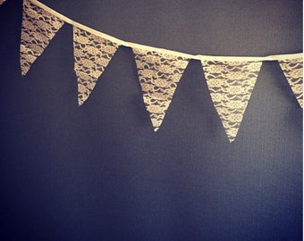 2.9m lace bunting/vintage wedding accessories