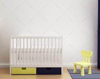Blank Wall art / Nursery Wall /  blank wall interior / white wall interior / white wall mockup / interior mockup / bedroom interior mockup /
