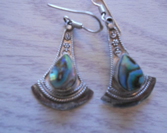 Sterling Silver and Abelone earrings.