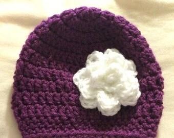 Newborn Sized Flower Hat