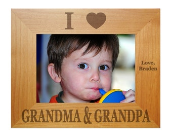 Laser Engraved Picture Frame grandparent christmas gifts gift ideas for grandparents presents photo frames 4x6 5x7 8x10 P12