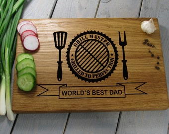 Fathers Day Grill, Fathers Day Grill Gift, Fathers Day Grilling Cutting Board, Dad's Gift Grilling Cutting Board, Fathers Day Grill Board