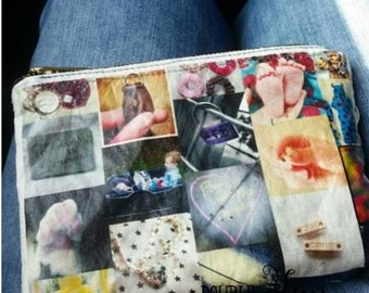 Personalized photo clutch