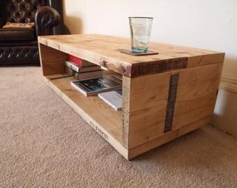 Reclaimed Wood Coffee Table/Media Unit