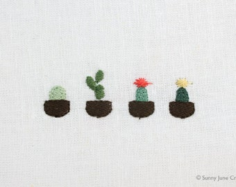 Machine embroidery pattern design cactus - digital file instant download