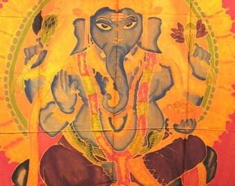 Large Screen Print Sarong, Ganesha 2