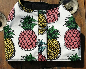 Vintage Pineapple Dog Harness - Dog Vest, Pet Accessories, Chihuahua Harness