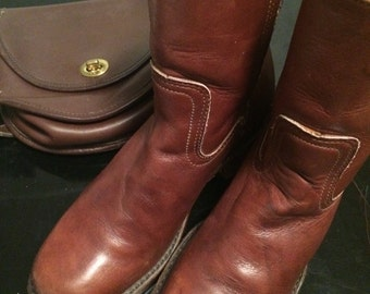 Women's vintage fry campus short zip boot sz 6 1/2M