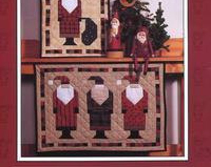 FREE US SHIP Debbie Mumm Mumm's The Word Craft Sewing Pattern Old St Nick Santa Claus Quilt 1992 Christmas Craft Sewing Pattern Folk Art