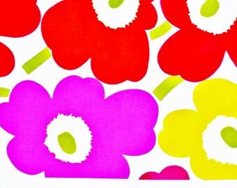Marimekko cut piece, Pieni Unikko Happy colour 217 x 33 cm