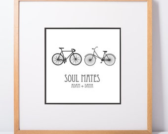 8x8 Customized Soul Mates Bicycle Print