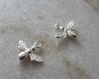 Sterling Silver (925) - 15mm Bee Charms
