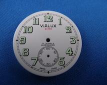 Vintage VIALUX -Super- Pocket Watch Dial 32.5mm -Swiss Made- Night Glow #114