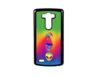Psychedelic Tie Dye Aliens for LG G6, G6 case, Lg G5 Case, Lg G5, LG G4, LG G3, G4 case