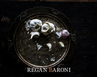 Food Photography, Still Life, Home Decor, Wall Art, Kitchen Art, Garlic
