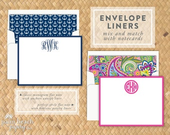 Envelope Liner Add-On - Lined Envelopes for Any Palm Beach Papery Stationery Product