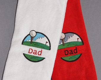 Personalized Golf Towel with hook, trifold golf towel with hook