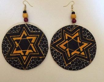 Kente Circle Earrings