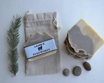 Patchouli Sandalwood Hemp Soap Bar-Patchouli soap, Sandalwood soap, Hemp seed oil, Natural colorant, Alkanet root, Handmade soap