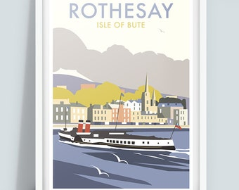 Rothesay, Isle of Bute Travel Poster Print, Scotland