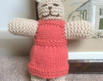 Handknitted Rabbit in Dress