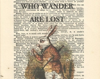 alice in wonderland vintage print wall art