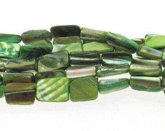 Natural Green Dyed Shell Beads Irregular Shape 8x15mm , Natural Sea Shell Beads, Shell Beads, Green shell beads