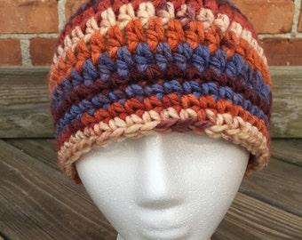 Soft cozy chunky crochet hat