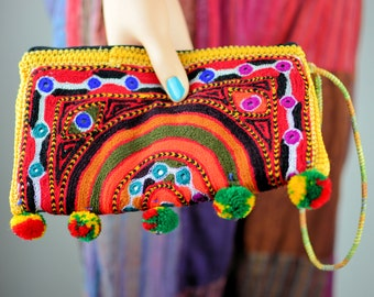 Beautiful Hand embroidered clutch bag,Sindhi embroidery bag,Handmade bags,Clutches,Evening bags,Banjara bags,Fabric bags,Pouches,Handbags