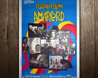 Original Movie Poster Amarcord 100X140  CM - Federico Fellini