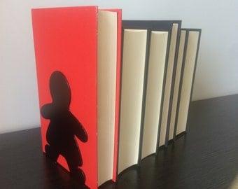 Gingerbread Women Bookends - Metal Bookends - Unique Gift - Metal Art - Custom - Modern Bookends