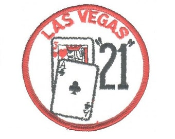 Vintage Las Vegas Gaming Patch - Nevada Black Jack 21 (Iron on)