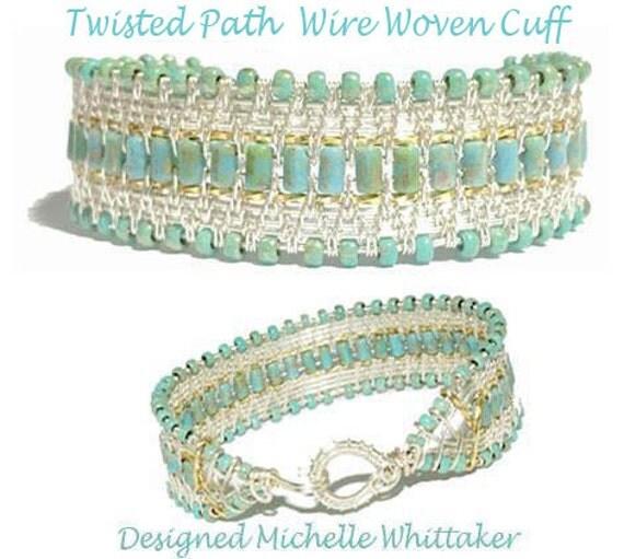 Twisted Path Wire Woven Bracelet Tutorial PDF