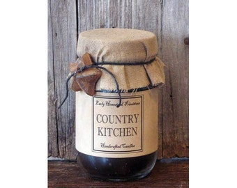 Primitive Country Rustic Country Kitchen Scented Jar Candle