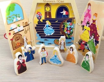 Princess Personalised Wooden Story Telling Travel Book