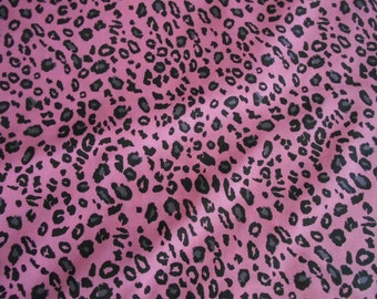 Wild side cheetah bubblegum pink cotton fabric by the yard
