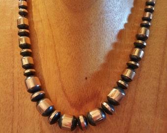 Graduated Copper Beads Necklace 16 inch Copper Bead Necklace Solid Navajo Style Copper Bead Necklace Dark Copper Beads