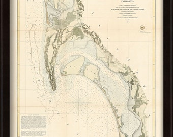 0497-San Diego Harbor Nautical Chart 1857