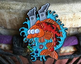 Blinky simpson hat pin