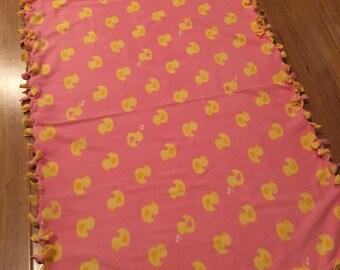 Child's Pink Duck Blanket