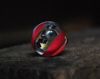 Coral Coil Resin Ring