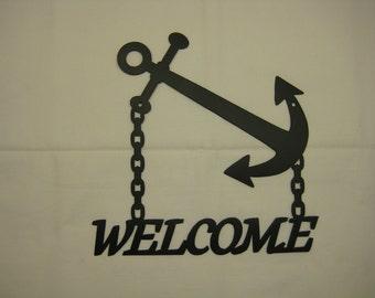 Anchor Welcome Sign Nautical Decor