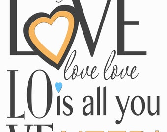All You Need Is Love, Metal Sign,  No.335