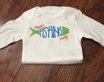 Paran's Fishing Buddy body suit; Dad's Fishing Buddy bodysuit