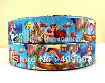 The Little Mermaid 1 inch Ribbon by the yard