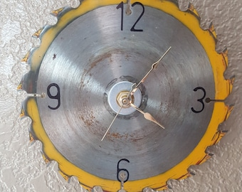 Recycled Saw Blade Clock