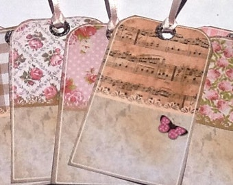 12 Shabby Chic Vintage Tags