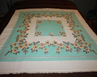 Aqua Vintage Tablecloth