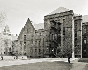 """Vintage BUFFALO, NY - 1965 """"Lunatic Asylum"""" Buffalo Mental Hospital - Reprint Photo avail in sizes 8x10 11x14 or 16x20 - Old Picture Print"""