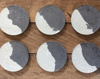 Concrete/ cement coaster (set of 6)